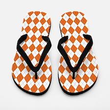 Argyle Socks Orange Flip Flops