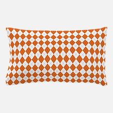 Argyle Socks Orange Pillow Case