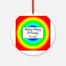 Happy Birthday! Ornament (Round)