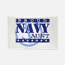 Proud Navy Aunt Rectangle Magnet