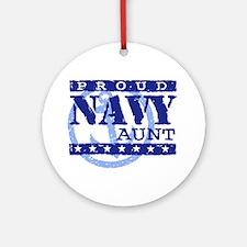 Proud Navy Aunt Ornament (Round)
