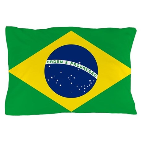 brazil flag coloring page - flag of brazil pillow case by worldsoccerstore