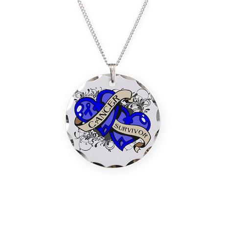 Colon Cancer Survivor Necklace Circle Charm