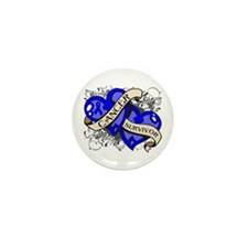 Colon Cancer Survivor Mini Button (10 pack)