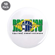 "Brazilian Jiu Jitsu designs 3.5"" Button (10 pack)"