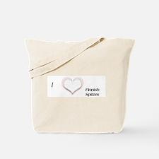 I heart Finnish Spitz Tote Bag