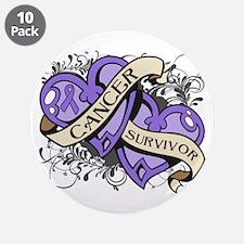 "Hodgkin Disease Survivor 3.5"" Button (10 pack)"