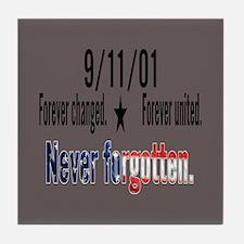 9/11 Tribute Forever United Tile Coaster
