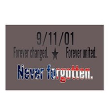 9/11 Tribute Forever United Postcards (Package of