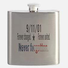 9/11 Tribute Forever United Flask