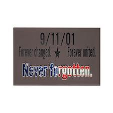 9/11 Tribute Forever United Rectangle Magnet