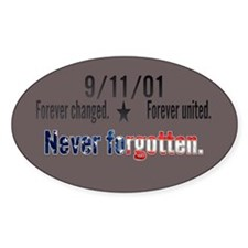 9/11 Tribute Forever United Decal