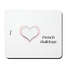 I heart French Bulldog Mousepad