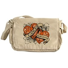Leukemia Hearts Survivor Messenger Bag