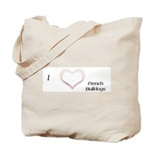 I heart French Bulldog Tote Bag