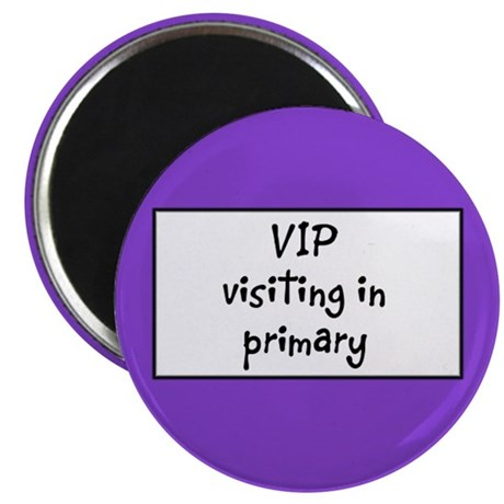 """VIP: visiting in Primary 2.25"""" Magnet (10 pack)"""