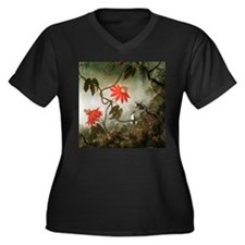 Passion Flowers and Hummingbirds Women's Plus Size