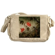 Passion Flowers and Hummingbirds Messenger Bag