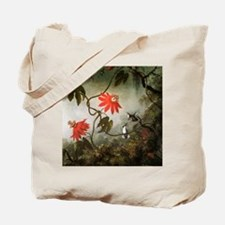 Passion Flowers and Hummingbirds Tote Bag