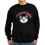 Crazy cat lady Sweatshirt (dark)