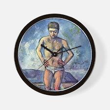 Paul Cezanne A Swimmer Wall Clock