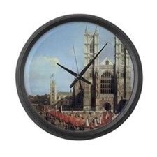 Canaletto Westminster Abbey Large Wall Clock
