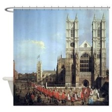 Canaletto Westminster Abbey Shower Curtain