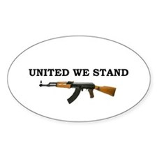 United We Stand Oval Bumper Stickers
