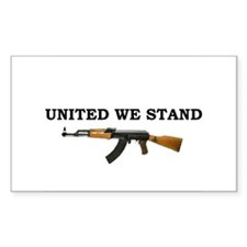 United We Stand Rectangle Decal