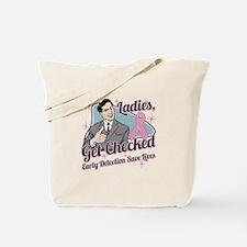 Ladies Get Checked Breast Tote Bag