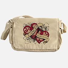 Head Neck Cancer Survivor Messenger Bag