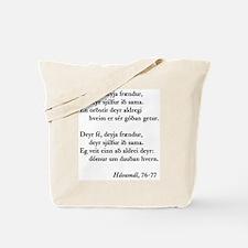 Havamal Tote Bag