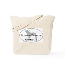 Boston Terrier GRANDMA Tote Bag