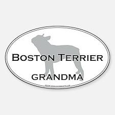 Boston Terrier GRANDMA Oval Decal