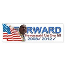 He won, AGAIN!: Bumper Sticker
