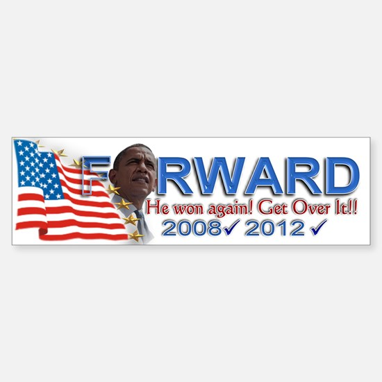 He won, AGAIN!: Sticker (Bumper)