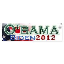 O'bama Biden 2012 Bumper Sticker