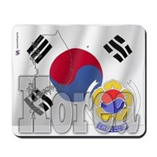 Silky Flag of Korea Mousepad
