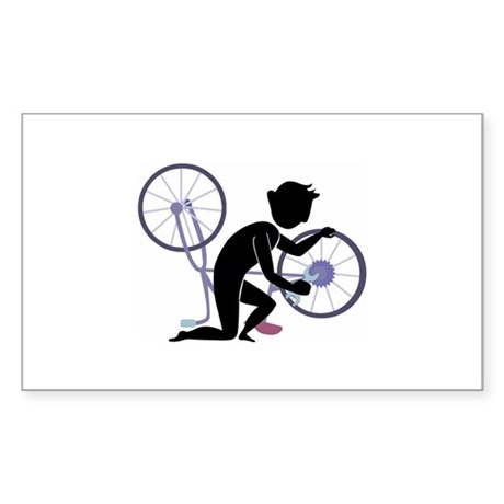 Bike Sticker (Rectangle)