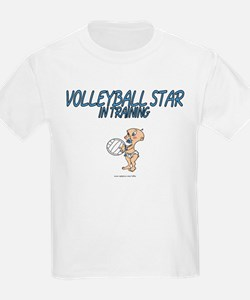 Volleyball Star In Training Kids T-Shirt
