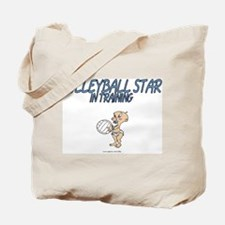 Volleyball Star In Training Tote Bag