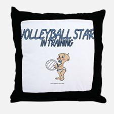 Volleyball Star In Training Throw Pillow