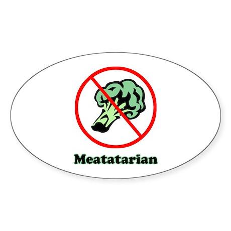 Meatatarian Oval Sticker