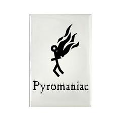 Pyromaniac Rectangle Magnet