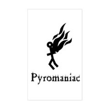 Pyromaniac Rectangle Decal