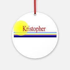 Kristopher Ornament (Round)