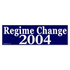 Regime Change 2004 Bumper Bumper Sticker