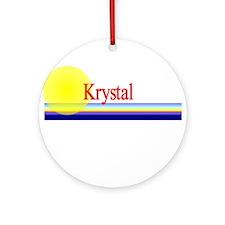 Krystal Ornament (Round)