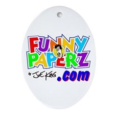 """""""FUNNY PAPERZ"""" Oval Ornament"""