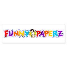 """""""FUNNY PAPERZ"""" Bumper Bumper Sticker"""